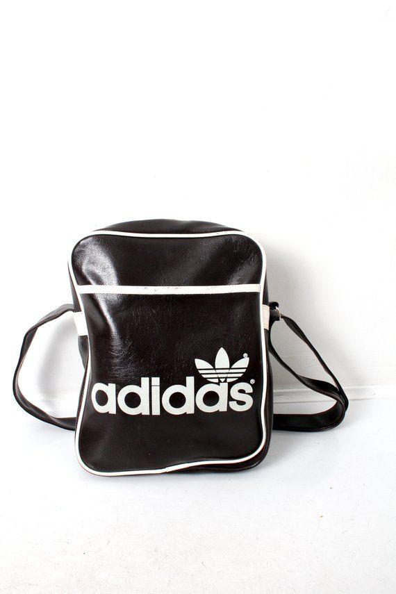 Adidas Shoulder Bag Sporty Bag Vintage Adidas Bag Adidas Trefoil Logo Bag  School Bag Retro Everyday Purse Weekend Bag Messenger Bag c5bcb51a2eabc