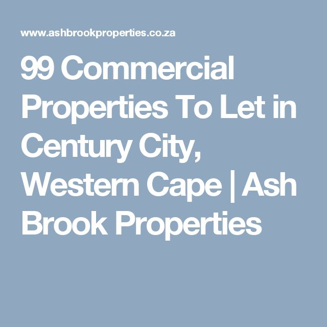 99 Commercial Properties To Let in Century City, Western Cape  | Ash Brook Properties
