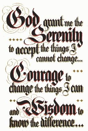 Serenity Prayer. Miss Kansas had this tattoo on her side and showed it proudly in the Miss America Pageant.  Loved it