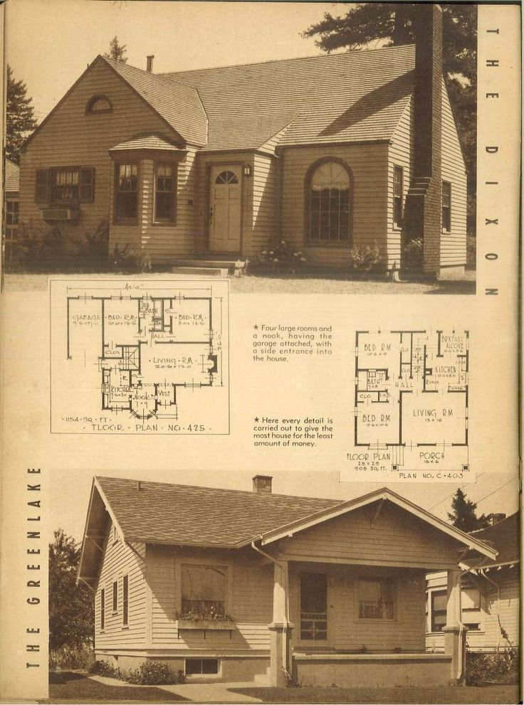 House Plan Small Home Design: 1940s,,,,Attractive Homes : 62 Homes With Plans.