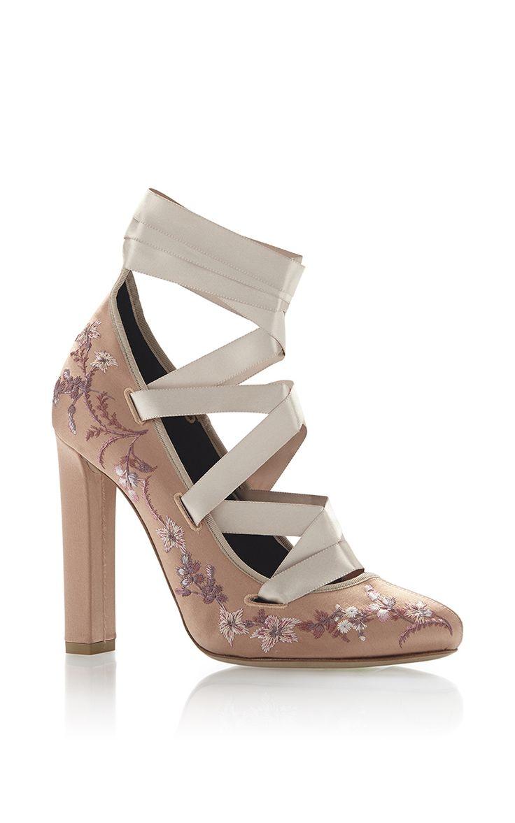 Ribbon Lace Up High Heels
