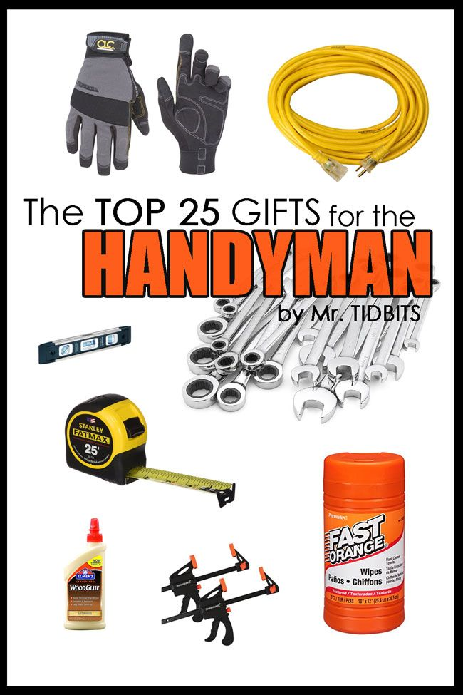This is the ultimate gift guide for the man of the house, written by a man of a house!  The Top 25 gifts for the Handyman.