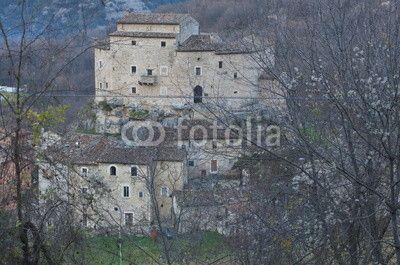 Di Luco castle, Acquasanta Terme, Marche region. Italy