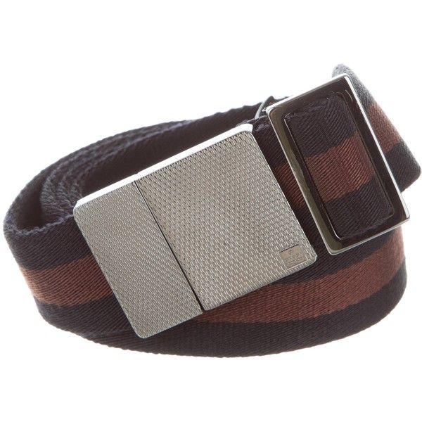 Pre-owned Gucci Canvas Web Belt ($145) ❤ liked on Polyvore featuring men's fashion, men's accessories, men's belts, black, mens belts, gucci mens belt and mens canvas belts