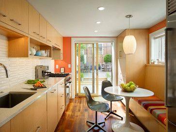 Fascinating Modern Interior Ideas Charming Kitchen Circular Table Queen Village Row Home