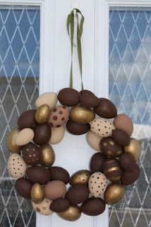 Chocolate Easter Egg Wreath - not sure this would ever make it to the door to hang.