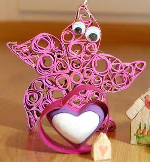 estrella de mar de papel reciclado