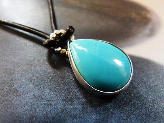 Turquoise necklace hidden tree metalwork natural jewelry