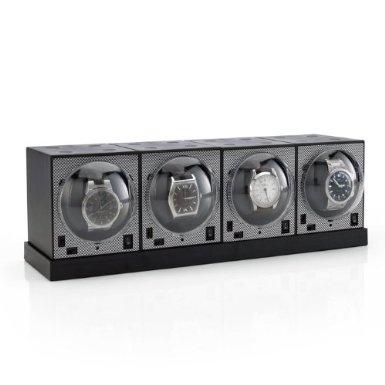 Brookstone watch winders.  Lekker oppbevaring og automatisk opptrekking av klokker.  + skalerbare.