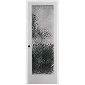 Reliabilt Bermuda Solid Core Patterned Glass Single Prehung Interior Door  (Common: 32 In