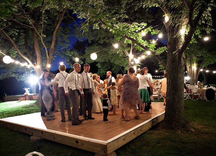 Best 25 outdoor dance floors ideas on pinterest dance floors jennie and jordan s outdoor diy wedding with a vintage dress and veil by solutioingenieria Image collections