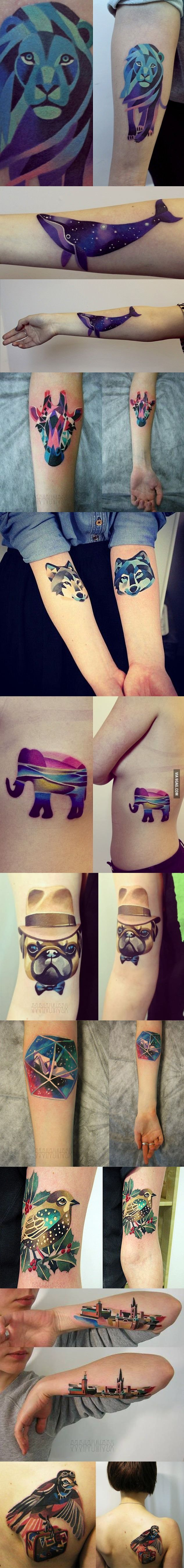 Pretty f'kin cool tattoos - If I were to get a tattoo, the lion would be my pick for my Leo Astrology.