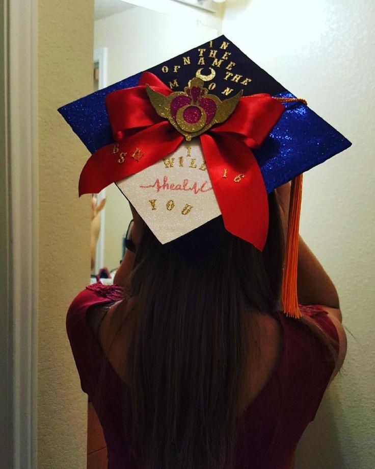 See this Instagram photo by @love_sandi • Sailor Moon Nursing Grad Cap