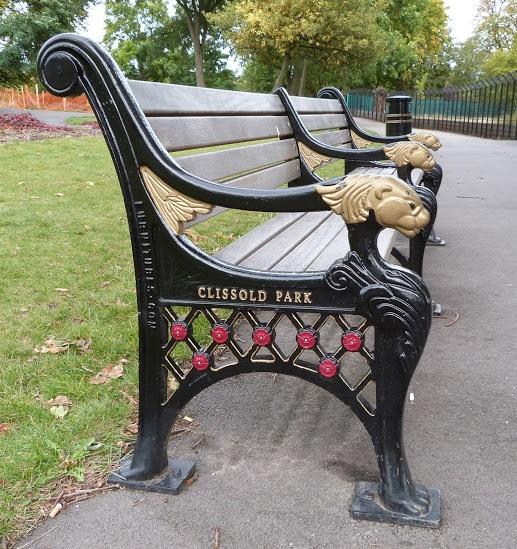 Bench at Clissold Park, Stoke Newington.