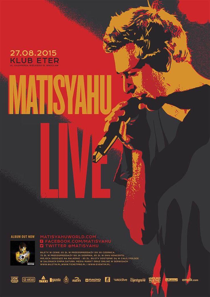 Plakat koncertu Matisyahu - 27.08.2015