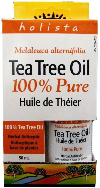 Holista Tea Tree Oil 100% Pure (50ml); works great on pimples.