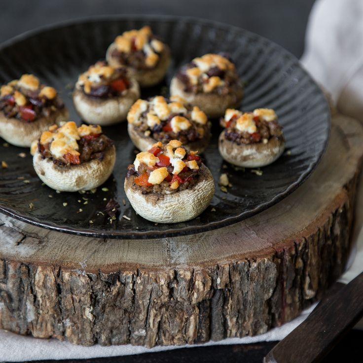 die besten 25 gef llte champignons mit hackfleisch ideen. Black Bedroom Furniture Sets. Home Design Ideas