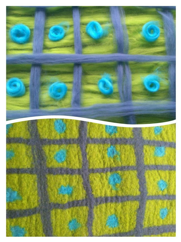 Before and after felting