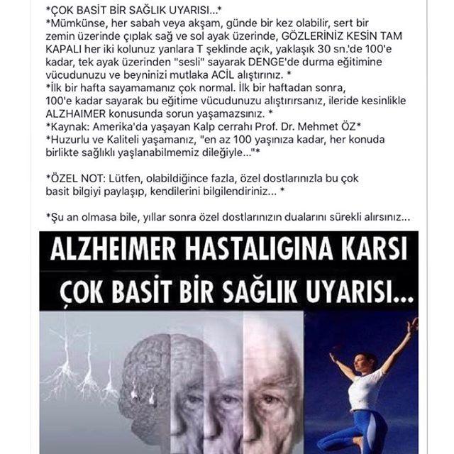 Instagram media by ozdemirhulya - #mehmetöz #basit #sağlık #uyarı #alzheımer #çare