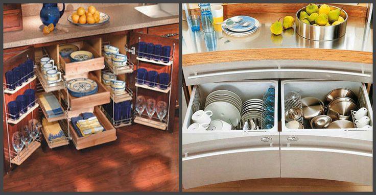 Интересные варианты хранения посуды: 65 фото-идей