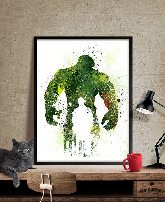 Hey, I found this really awesome Etsy listing at https://www.etsy.com/listing/231843470/hulk-poster-superhero-art-superhero