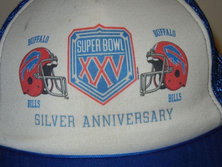 Buffalo Bills Super Bowl XXV Silver Anniversary OSFA snapback hat cap  #Unbranded #BuffaloBills