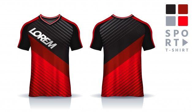 Download T Shirt Sport Design Template Uniform Front And Back View À¹€à¸ª À¸