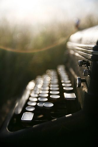 It's just a typewriter....  but oh how gorgeous does the photographer make it look! LOVE old typewriters!!!!