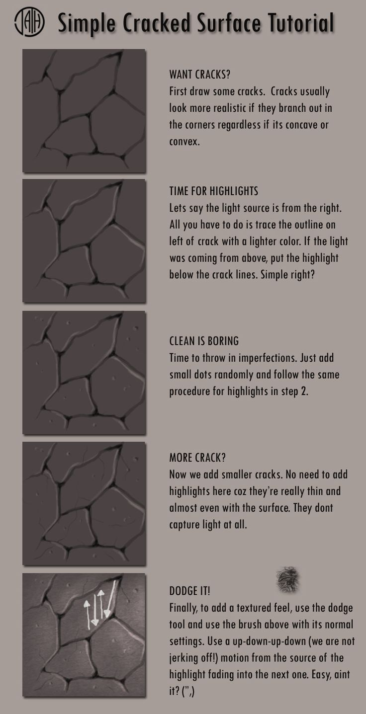 how to draw texture easy