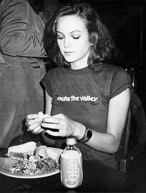 Diane Lane photographed by Andy Warhol, 1984.