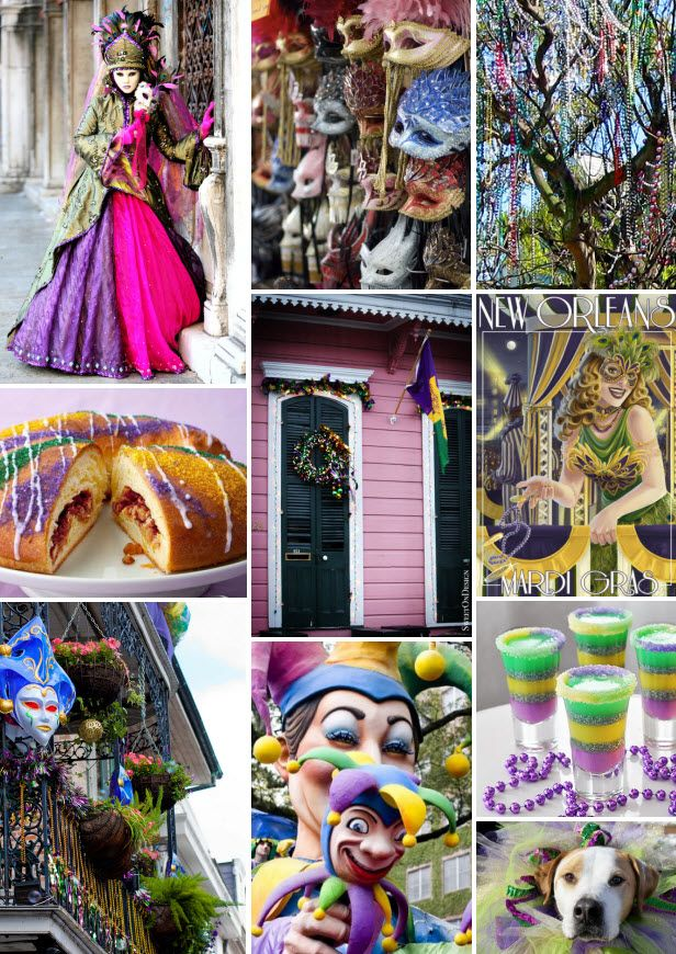 Mood Board Monday: Mardi Gras 2014 (http://blog.hgtv.com/design/2014/02/24/mood-board-monday-mardi-gras/?soc=pinterest): Design Blog, King Cakes