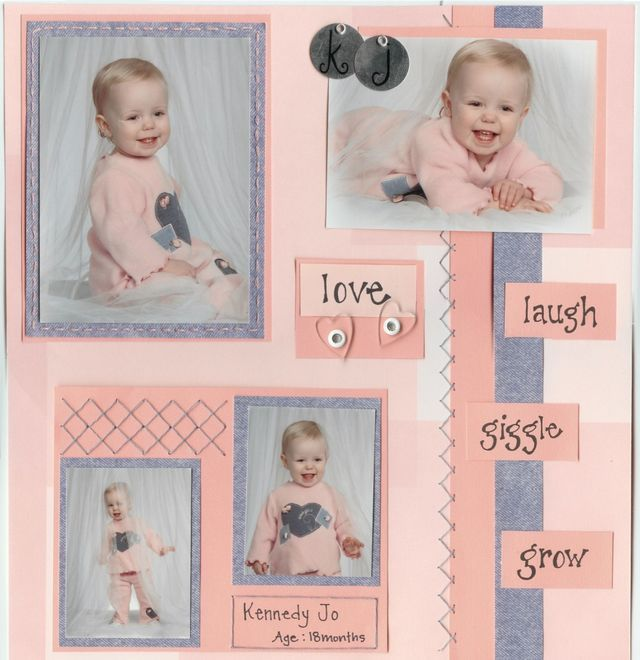 sunglass Baby Scrapbooking Ideas