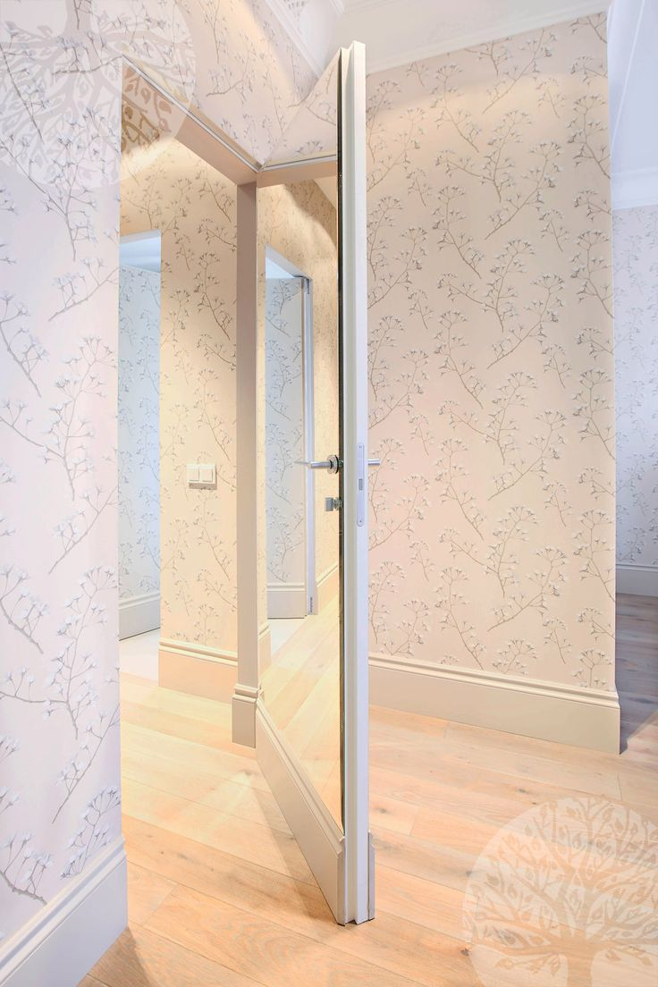 #secret_doors With Mirror. Outside Door Is Covered With A Mirror Inside  Wallpaper