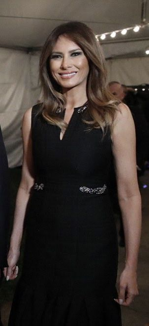 First Lady Melania Trump - Christmas Eve service @ the Church of Bethesda-by-the-Sea