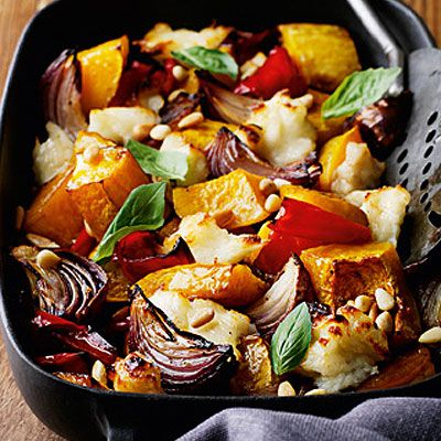 Recipes for one: Vegetable and haloumi bake