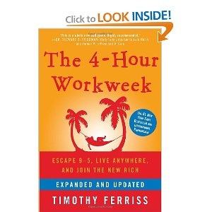 The 4-Hour Workweek by Tim Ferriss – Ferris challenges us to evaluate our perspective on the cost and availability of our dreams, and he teaches us that hard work isn't very hard when you love what you're doing.  Although there's certainly some pages of self promotion within, Ferris provides invaluable tips to help us remain aligned with our goals, set expectations on our terms, and eliminate unnecessary time-sinks while increasing our overall effectiveness.