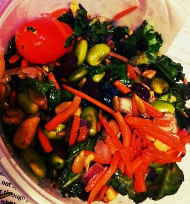 I am absolutely in love with this salad, but it's usually $8/lb and they don't always have it at Kroger. I put myself on a grocery store ban in February because I was spending way more money than n...