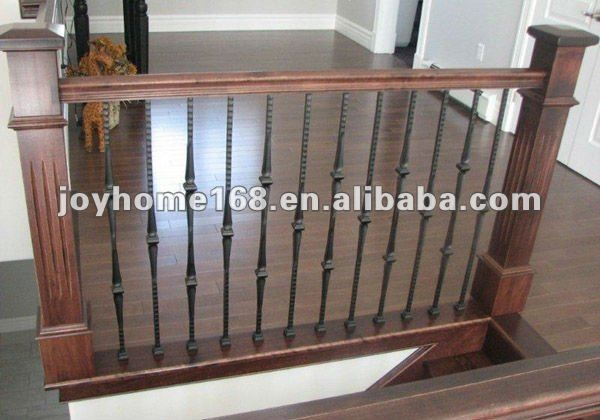Interior wrought iron railing designs interior wrought for Inside balcony railing