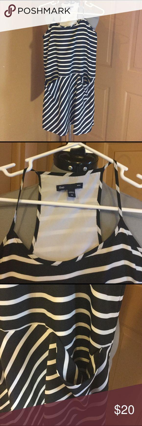 "Gap dress size Extra Small Gap ""Navy Stripe jet shirt tank dress"" size Extra Small. The dress has pockets. Smoke free home and dog mom. GAP Dresses"