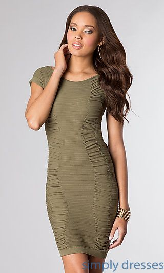 Ruched Short Dress