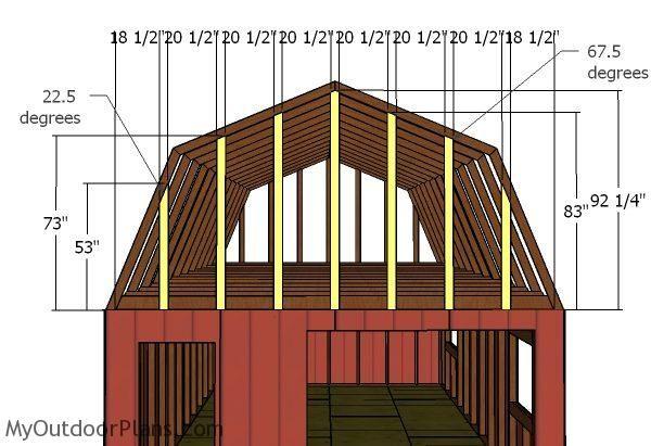 16x24 Gambrel Shed Roof Plans Myoutdoorplans Free Woodworking