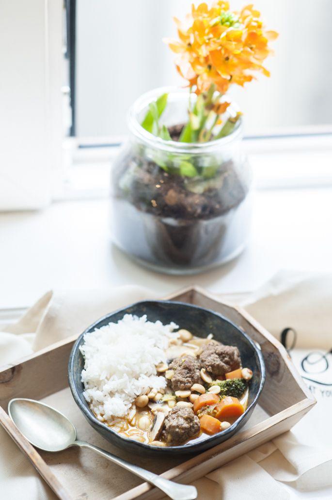 Fleischbällchen Curry