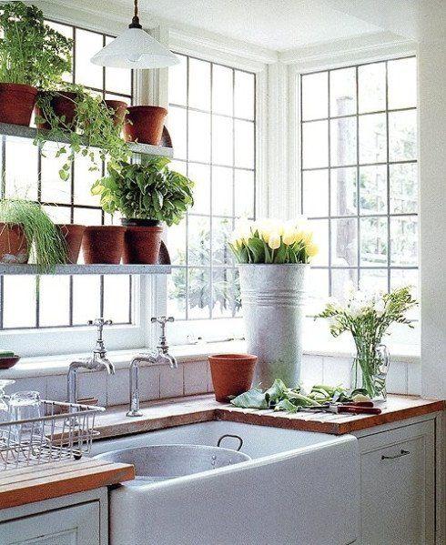Best Images About Corner Kitchen Windows | Beast Ideas Corner Kitchen Sink Design
