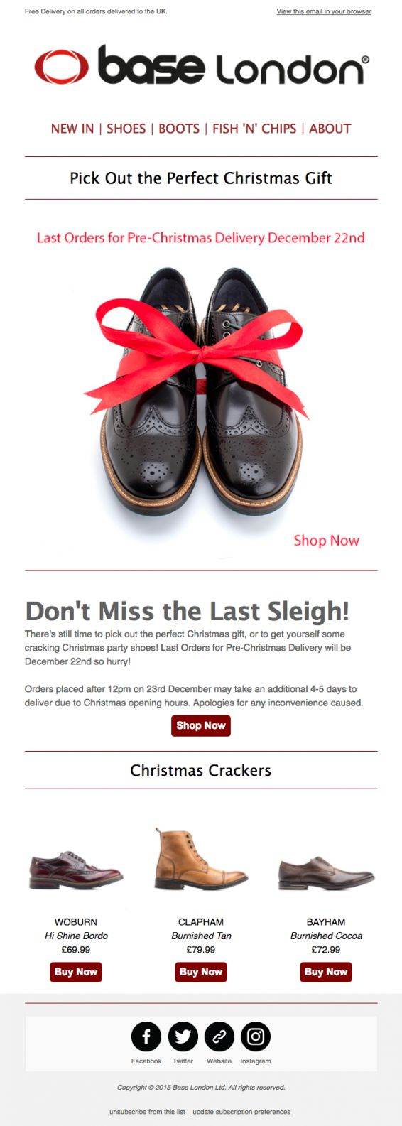 The best holiday email marketing: Content | Emma Email Marketing Blog | Emma Email Marketing