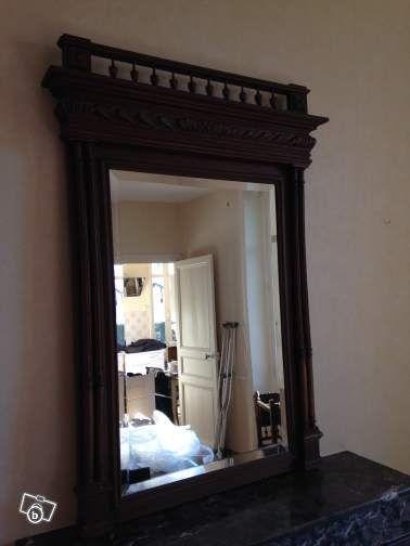 Miroir ancien ameublement sarthe salle for Restauration miroir ancien