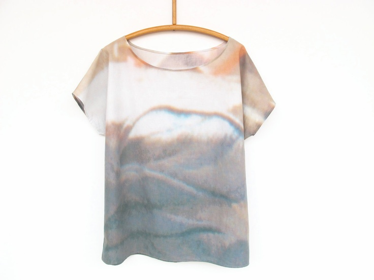 shirt LANDSCAPE digital print. €49,00, via Etsy.: Landscape Printst, 4900, Shirts Landscape, Standerswo Etsy, Bluse Landscape, T Shirts, Digital Prints, Landscape Digital, Landscape Prints Fabrics