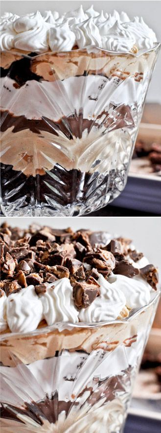 Chocolate Fudge Peanut Butter Trifle by /howsweeteats/ I http://howsweeteats.com