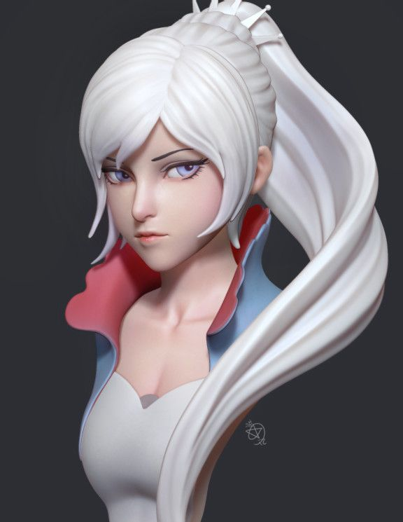 RWBY -- Weiss Schnee Fanart, 流星丸 AhYo Doomlord on ArtStation at…