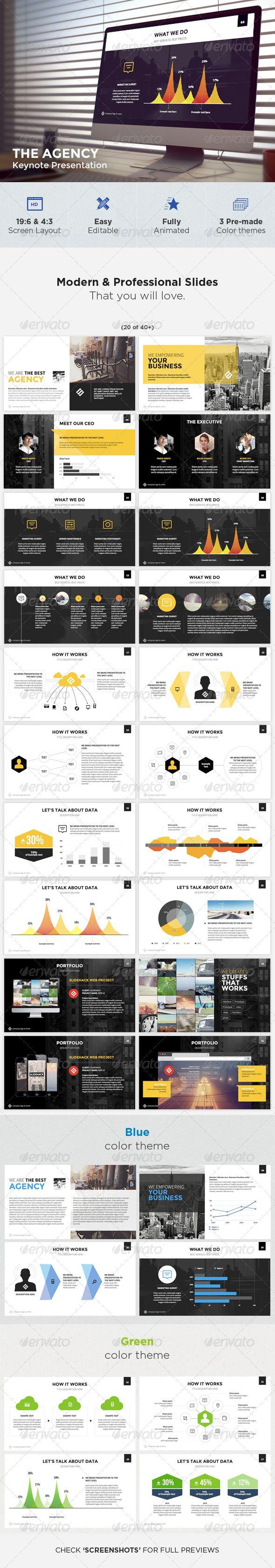 The Agency - Modern Keynote Template - Keynote Templates Presentation Templates