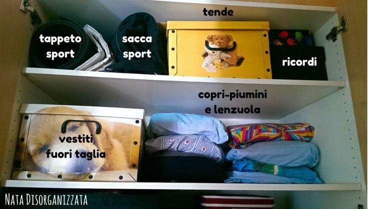 Nata disorganizzata: Come organizzare l'armadio dell'ingresso